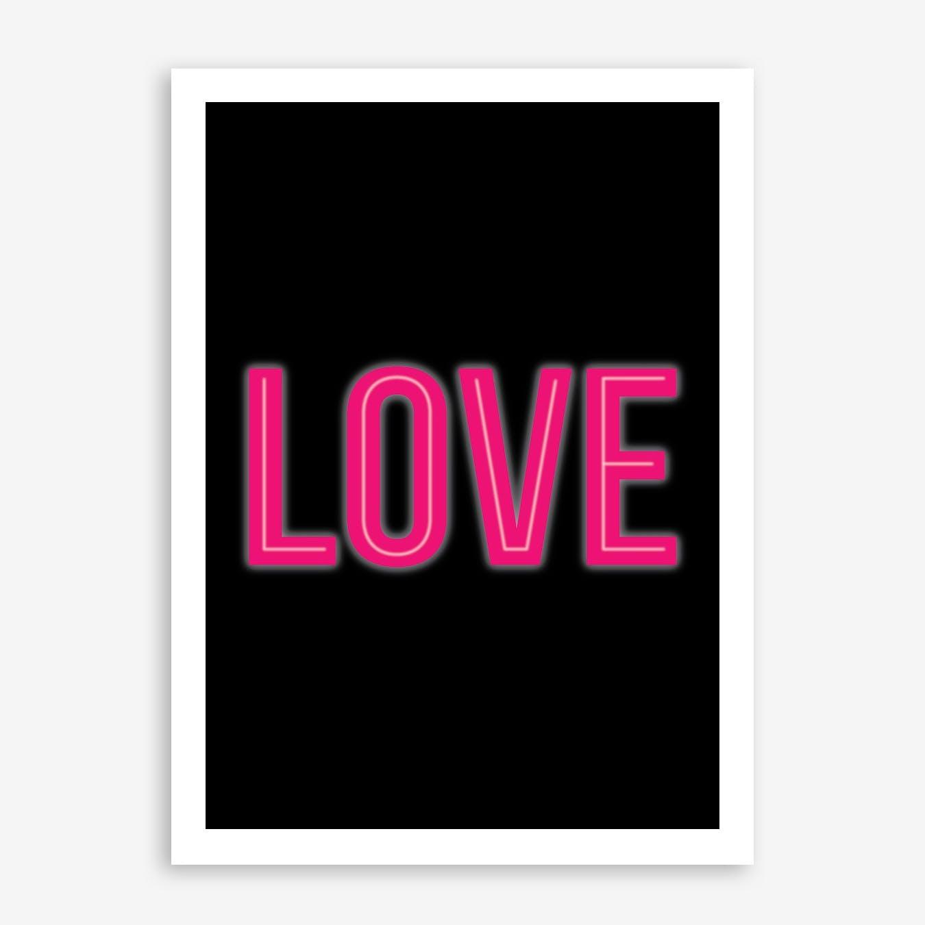 Neon Love Print