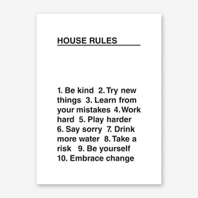 House Rules Art Print