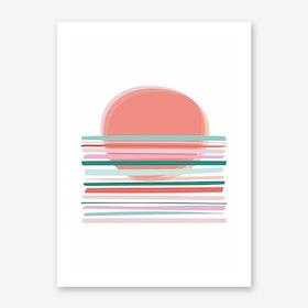 Sunset Abstract Art Print