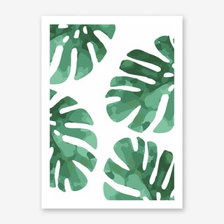 Monstera Pattern Art Print