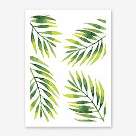 Palms Pattern Art Print