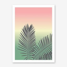 Sunset Palm Art Print