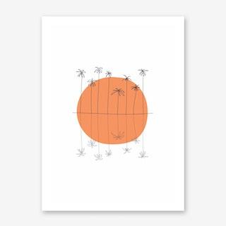 Sunset Palm II Art Print