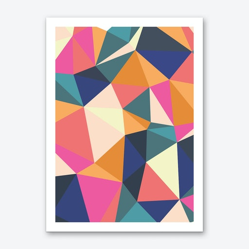 Geometric Burst Art Print