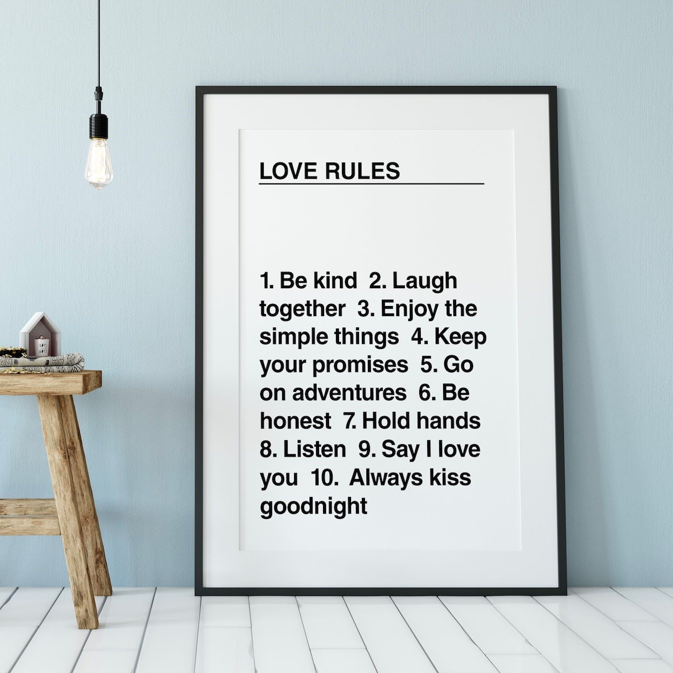 Love Rules Art Print