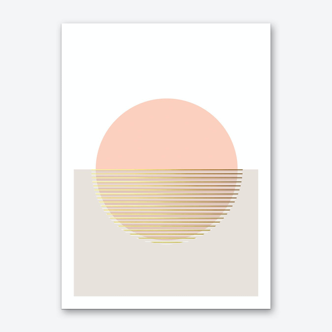 Peachy Skies Art Print