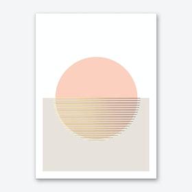 Peachy Skies Art Print