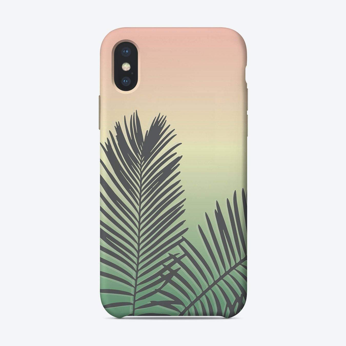 Pastel Palms iPhone Case