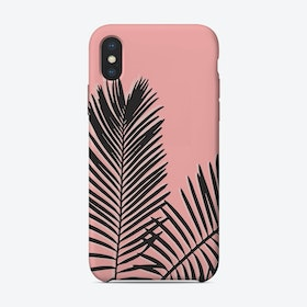 Pink Palms iPhone Case