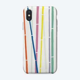 Rainbow Bamboo iPhone Case