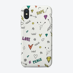 Love and Peace iPhone Case