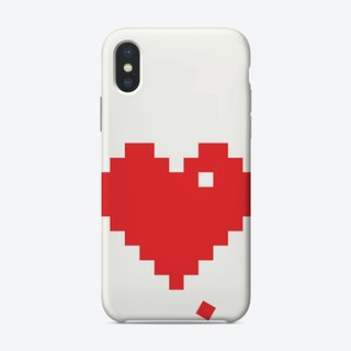 Red Pixel Heart iPhone Case
