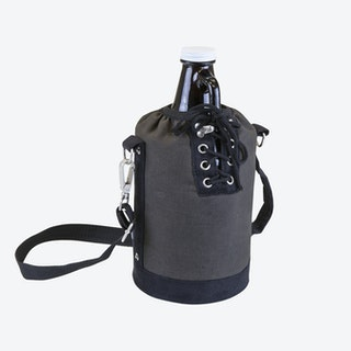 Growler Tote with Glass Growler - Gray