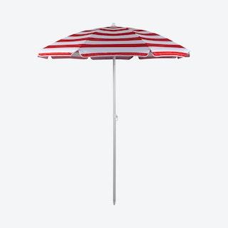 Cabana Stripe Pattern Umbrella - Red