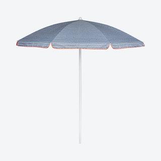 Wave Break Pattern Umbrella - Grey