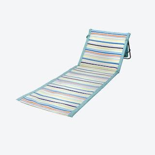 St. Tropez Collection Stripe Beachcomber Chair - Sky Blue / Multicoloured