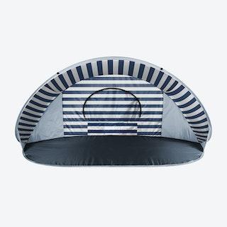 Manta Stripe Pattern Tent - Navy / White