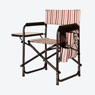 Moka Collection Stripe Pattern Sports Chair - Brown / Beige / Red