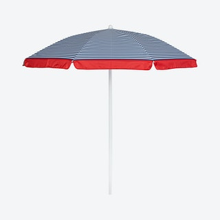 Pinstripe Pattern Umbrella - Blue