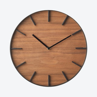 Rin Wall Clock - Walnut