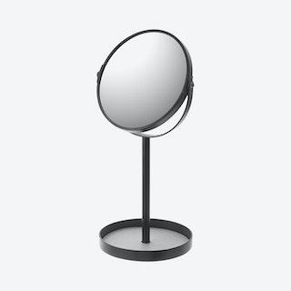Tower Round Standing Mirror - Black
