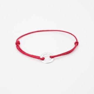 Silver Karma Bracelet in Red