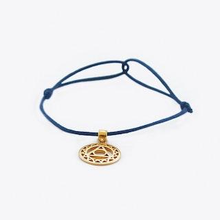 Silver Throat Chakra Bracelet in Blue