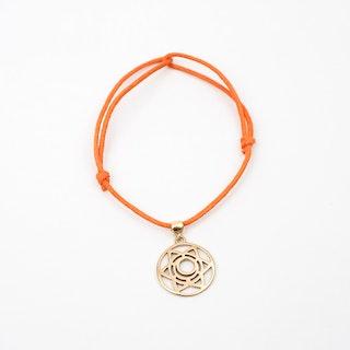 Gold Sacral Chakra Bracelet in Orange