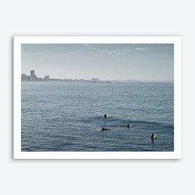 Early Morning Surfers Bliss Art Print