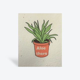 Plantable 'Aloe There' Greeting Card - Biodegradable Seed Paper
