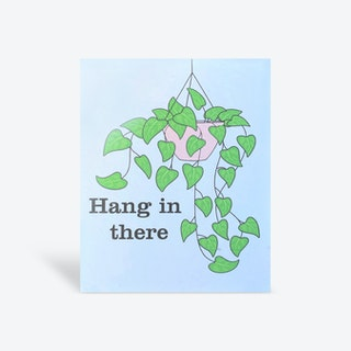Plantable 'Hang in There' Greeting Card - Biodegradable Seed Paper