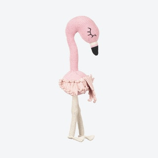 Fifi the Filamingo Stuffed Animal - Pink - Organic Cotton Yarn - Hand-Knitted