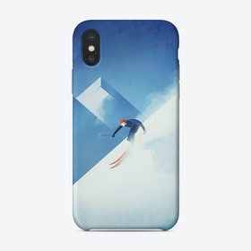 The Skier Phone Case