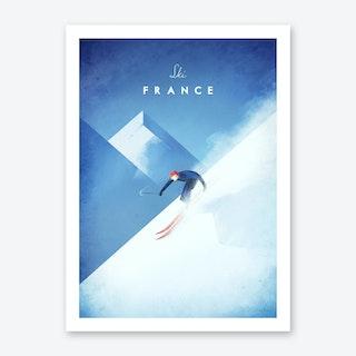 Ski France Art Print