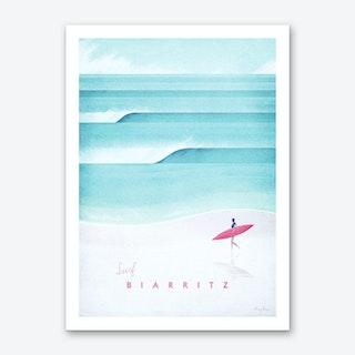 Visit Biarritz Art Print