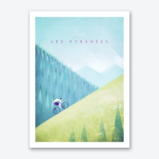 Visit Les Pyrenees Art Print