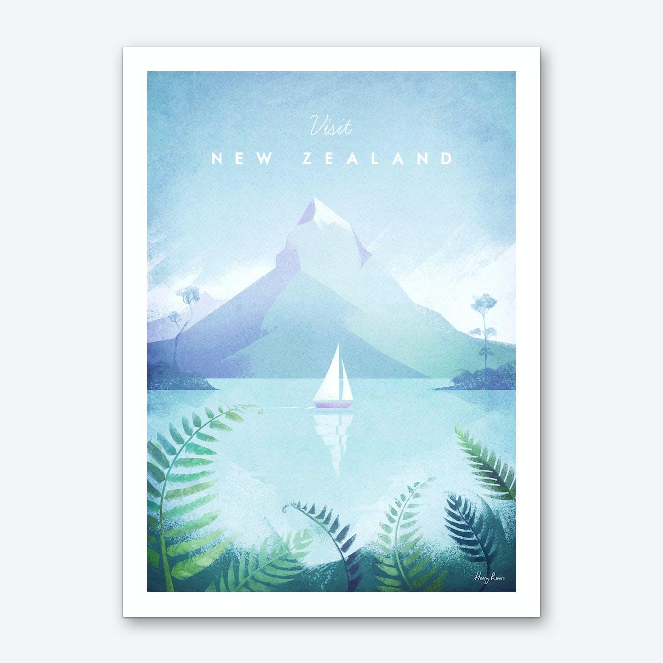 Visit New Zealand Art Print