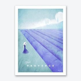 Visit Provence Art Print