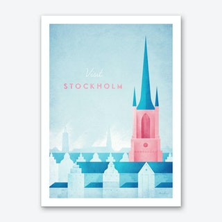 Visit Stockholm Art Print