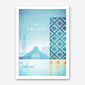 Visit Venice Art Print