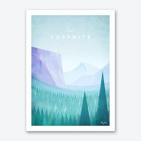 Visit Yosemite Art Print