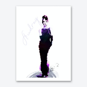 Audrey in Purple Art Print