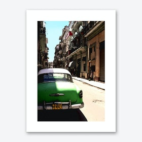 Green Cuban Car Art Print