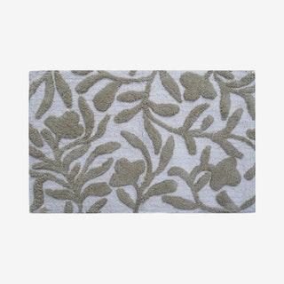Bath Rug - Beige / Ivory - Floral