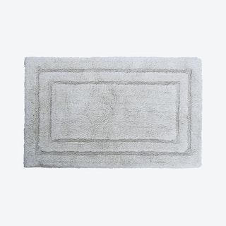 Plain Bath Rug - Ivory / Gray