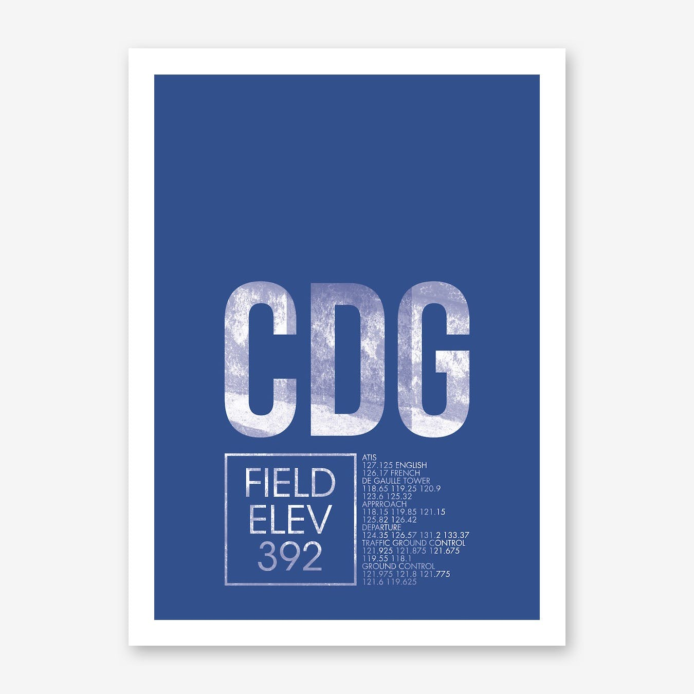 CDG Airport ATC Art Print