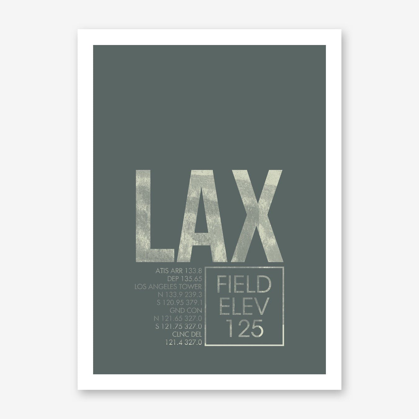 LAX Airport ATC Art Print
