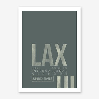 LAX Airport Code Art Print