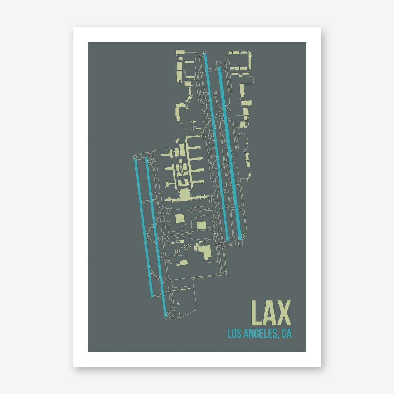 LAX Airport Layout Art Print