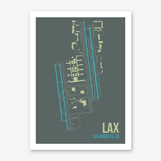 LAX Airport Layout Art Print
